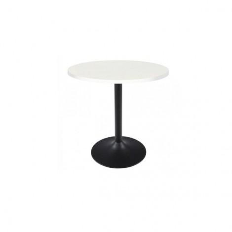 Mesa de vending Altarejos base negra y tablero 60cm blanco